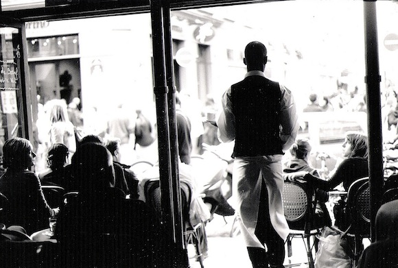Flickr-Dolarz-Paris-Cafe-Waiter-BW1